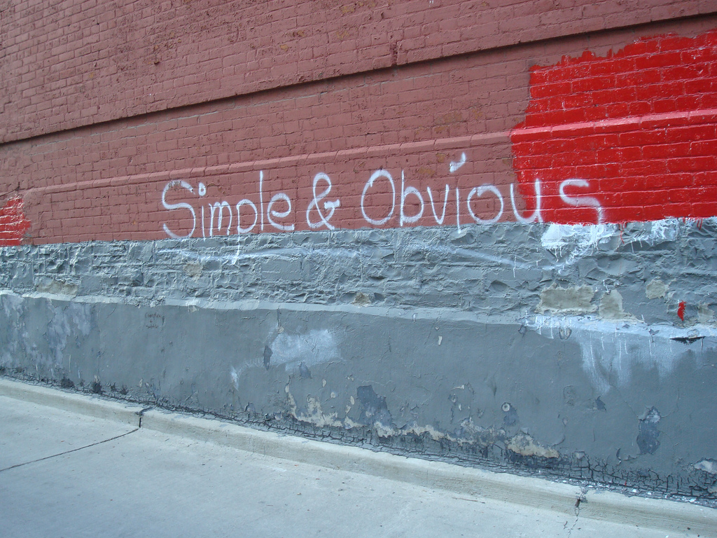 Simple ≠ Obvious - just ask the person skilled in the art