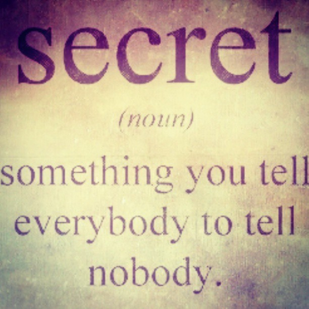 #secret by Christian Ditaputratama licensed under CC BY-SA 2.0